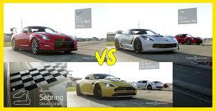 nissan gtr vs corvette z06 forza 6 nissan gt r x corvette z06 x aston martin v12 quem ganha