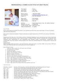 curriculum vitae chef thang new