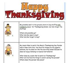 auditory processing u0026 short term memory recall thanksgiving theme