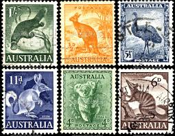 exotic animals of australia postage stamps of the world