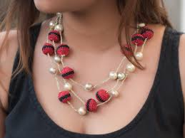 red necklace accessories images Samoolam red black pearl necklace necklaces accessories shop jpg