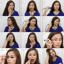 apply face makeup step by step temptu night look steps
