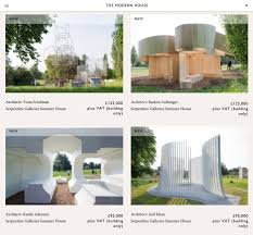 The Modern House Serpentine Summer Houses Put Up For Sale On The Modern House