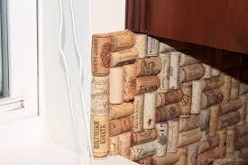 diy wine cork backsplash