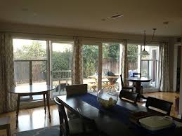 Extra Room Ideas Hall Extra Long Curtain Rods With Long Brown Wooden Table Also