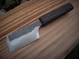 forged japanese kitchen knives oak nakiri crossed forge