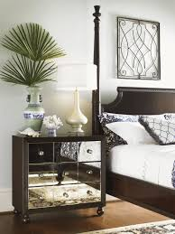 Nightstands With Mirrored Drawers Royal Kahala Starlight Mirrored Nightstand Lexington Home Brands