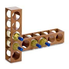 meubles en bambou zeller 13565 casier à vin en bambou 13 5 x 12 5 x 53 cm amazon