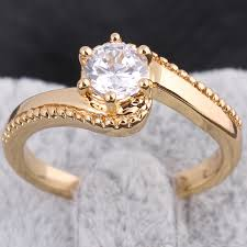 new gold rings images 2015 new fashion classic s design wedding ring studded cz rings jpg