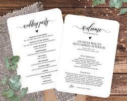 wedding reception programs reception program etsy
