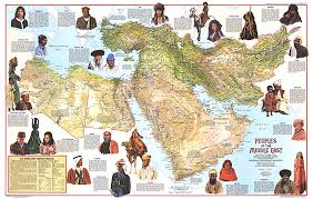 mid east map peoples of the middle east map