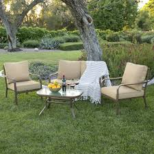 Patio Furniture Best - best choice products 4 piece cushioned patio furniture set w loveseat