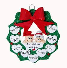 grandparent christmas ornaments grandparents 8 children my personalized ornaments