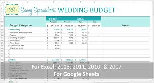 Wedding Planning Spreadsheet Branded Wedding Budgets Savvy Spreadsheets
