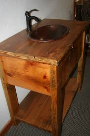 Barn Board Bathroom Vanity Barn Board Vanity With Log Trim Top U2014 Barn Wood Furniture Rustic