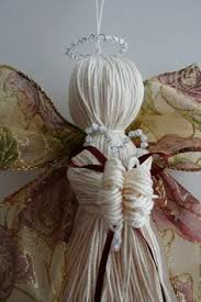 handmade hanging fabric christmas angel tree decoration heart