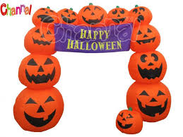 inflatable halloween pumpkin arch channal inflatables