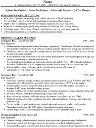 Sample Resume For Qtp Automation Testing by Sample Qa Analyst Resume Professional Skills For Resume Business