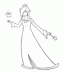super mario rosalina coloring pages sketch coloring page