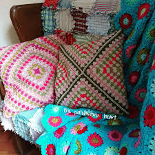 Knitted Cushion Cover Patterns The Patchwork Heart Wrap Around Cushion Cover Tutorial