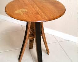 Barrel Side Table Whiskey Barrel Table Etsy