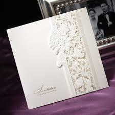 Tri Fold Invitations Aliexpress Com Buy Delicate Ivory Lace Cut Out Tri Fold Free