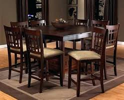 pub dining room sets counter height with bench style storage