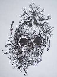 sugar skull roses drawing top hd images for free skull art