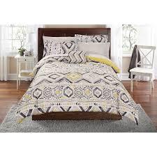 Grey And Yellow Duvet Tribal Grey Yellow Comforter Sheet Set 6 8pc Rustic Design