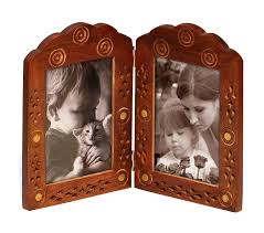 floral delights decorative mango wood picture photo home amazon com double photo frame for 4x6 pictures clearance sale