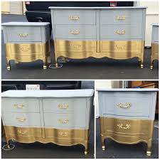 Gold And Grey Bedroom by Six Drawer French Provincial Dresser Nightstands Changing