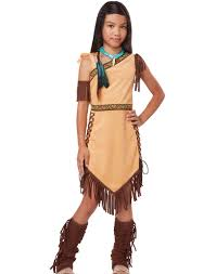 Halloween Costumes Girls Age 11 13 Indian Princess Pocahontas Native Child Tiger Lily Halloween