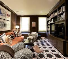 brown sofa pink pillows design ideas