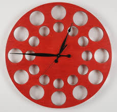 Cool Wall Clocks Cool Wall Clocks Red 118 Large Red Metal Wall Clocks Oversize Red