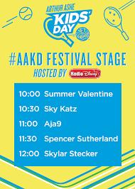 arthur schedule of events arthur ashe kids u0027 day