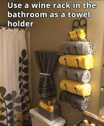 Bathroom Towel Tree Rack Use A Wine Rack For A Bathroom Towel Holder Awesome Idea What