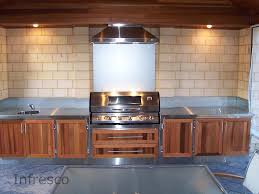 stainless steel benchtop infresco outdoor and alfresco kitchens