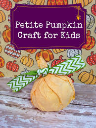 petite pumpkin preschool coffee filter craft for kids surviving