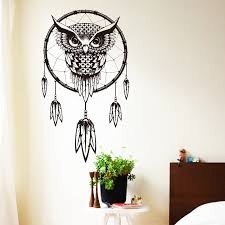 owl decor 2015 art design indian dream catcher decor wall sticker cute owl