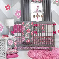 modern baby crib bedding baby duvet sets gray and pink nursery