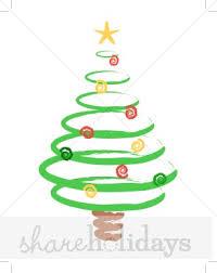 spiral christmas tree spiral christmas tree clipart 35