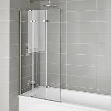 800mm folding bath shower screen luxury modern easy clean glass