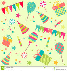 party stuff seamless background with party stuff royalty free stock photos