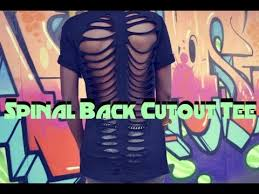 how to cut out the back of a cabinet diy spinal back cut out t shirt