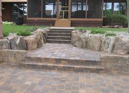 How To Make Paver Patio Pavers For Patio Wood Deck Was Replaced With Paver Patio And