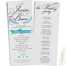 wedding programs wedding programs 4 25 x 11 gray artision