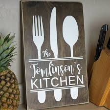 wedding gift kitchen personalized kitchen sign personalized wedding gifts