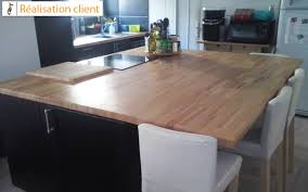 cuisine avec plan de travail en bois rénovation de cuisine avec plans de travail en hêtre massif le
