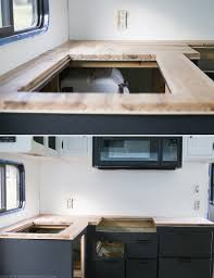 how to update your house how to create wood counters from flooring in a rv