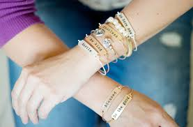 bracelet style images Fearless stamped phrase bangle cents of style inspirational jpg